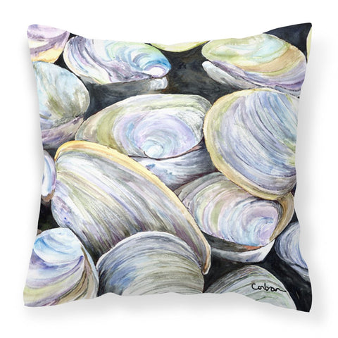 Buy this Clam Quahog Fabric Decorative Pillow 8714PW1414