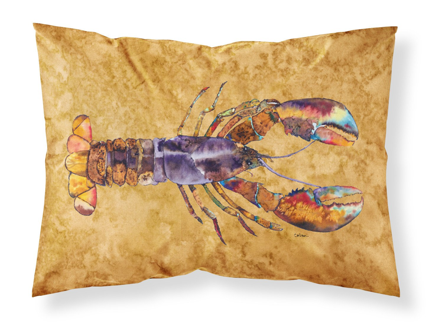 Lobster  Fresh Moisture wicking Fabric standard pillowcase by Caroline's Treasures