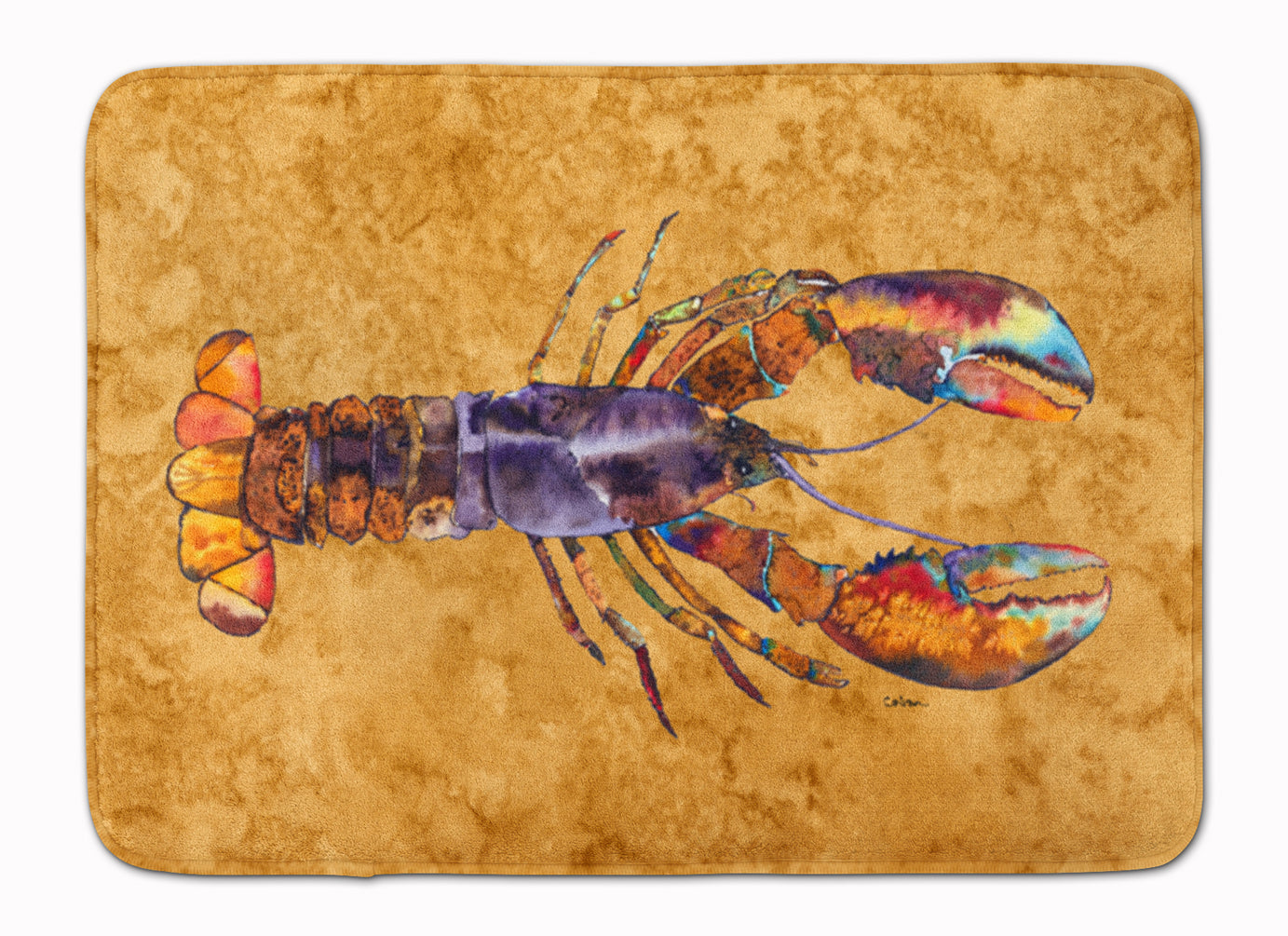 Lobster Machine Washable Memory Foam Mat 8716RUG by Caroline's Treasures