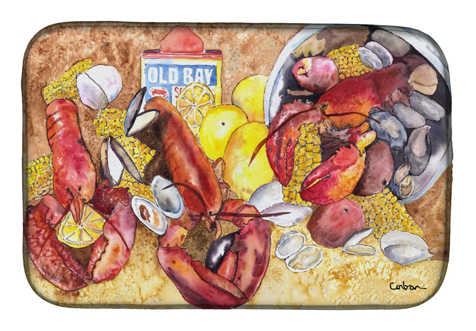 Buy this Lobster with Old Bay Dish Drying Mat 8719DDM