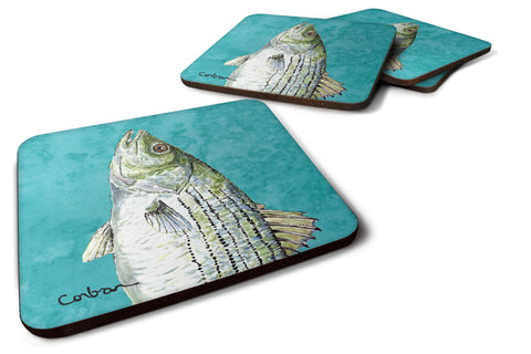 Buy this Set of 4 Striped Bass Foam Coasters