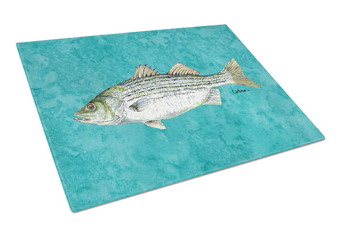 Buy this Fish  Striped Bass Glass Cutting Board Large