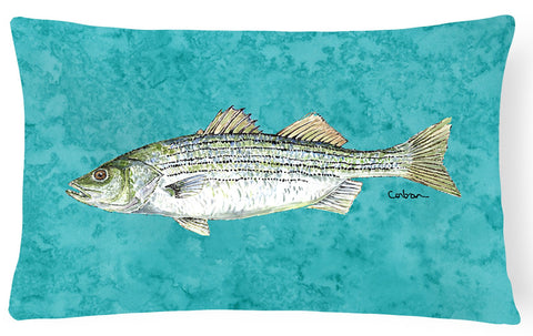 Buy this Striped Bass Fish   Canvas Fabric Decorative Pillow