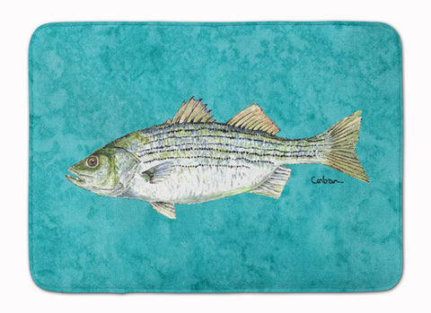 Buy this Striped Bass Fish Machine Washable Memory Foam Mat 8720RUG