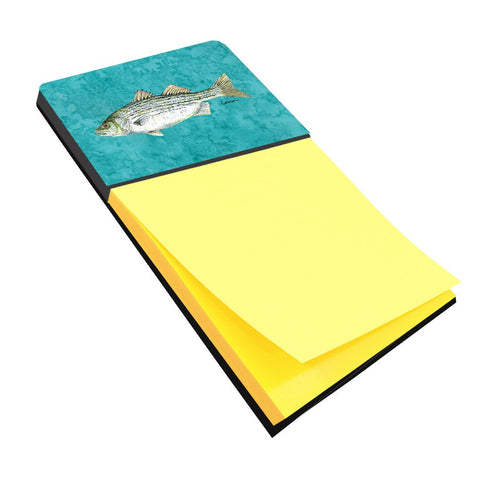 Buy this Striped Bass Fish Refiillable Sticky Note Holder or Postit Note Dispenser 8720SN
