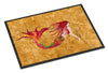 Ginger Red Headed Mermaid on Gold Indoor or Outdoor Mat 18x27 8727MAT - the-store.com