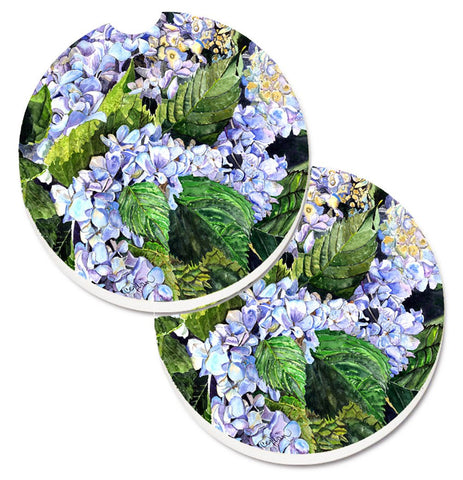 Buy this Hydrangea Set of 2 Cup Holder Car Coasters 8730CARC