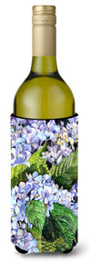 Hydrangea Wine Bottle Beverage Insulator Beverage Insulator Hugger by Caroline's Treasures