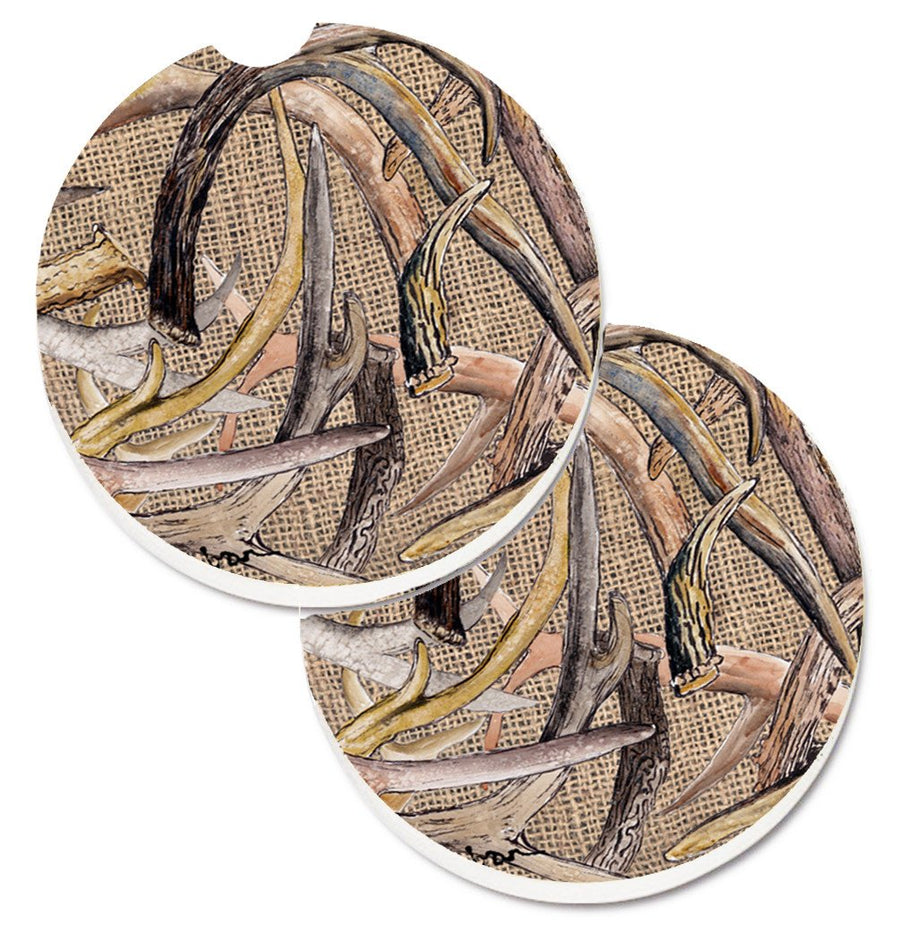 Buy this Deer Horns Set of 2 Cup Holder Car Coasters 8732CARC