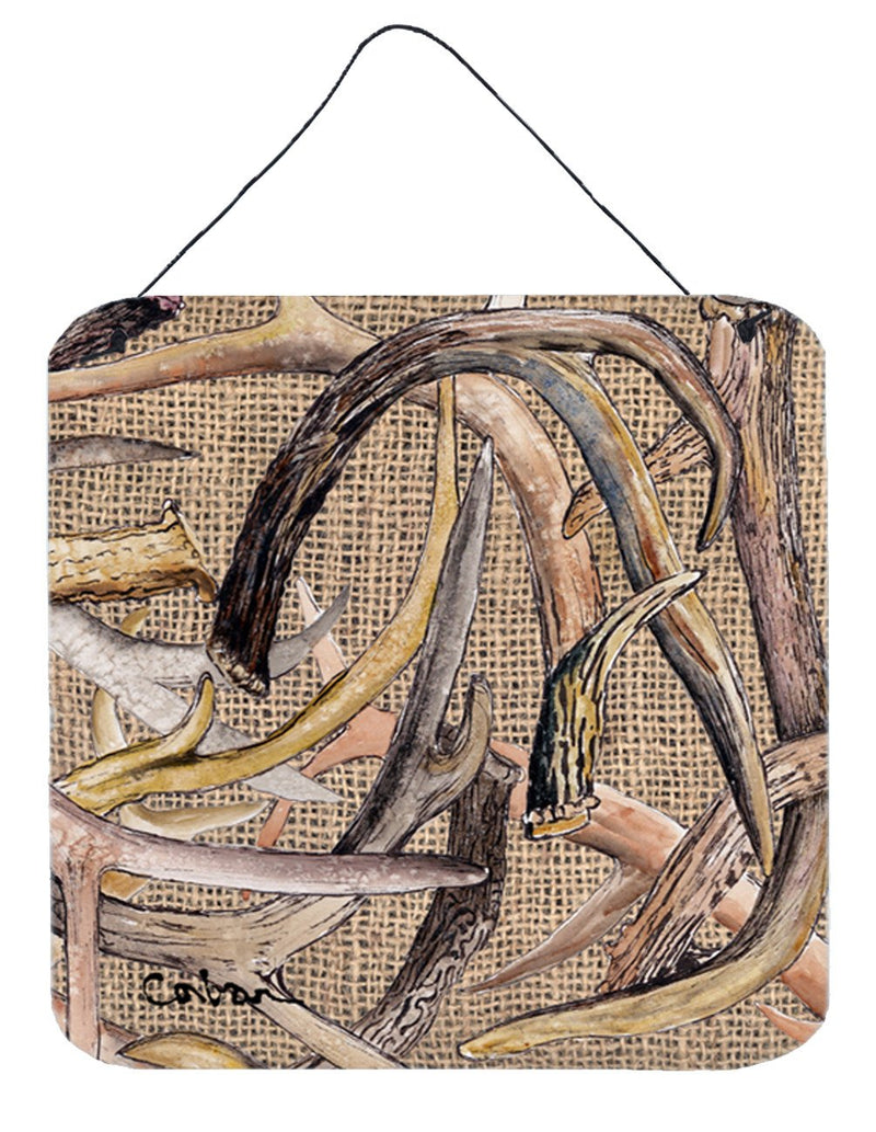 Buy this Deer Horns Aluminium Metal Wall or Door Hanging Prints