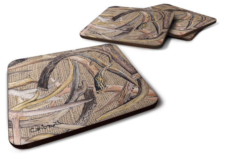 Buy this Set of 4 Deer Horns  Foam Coasters