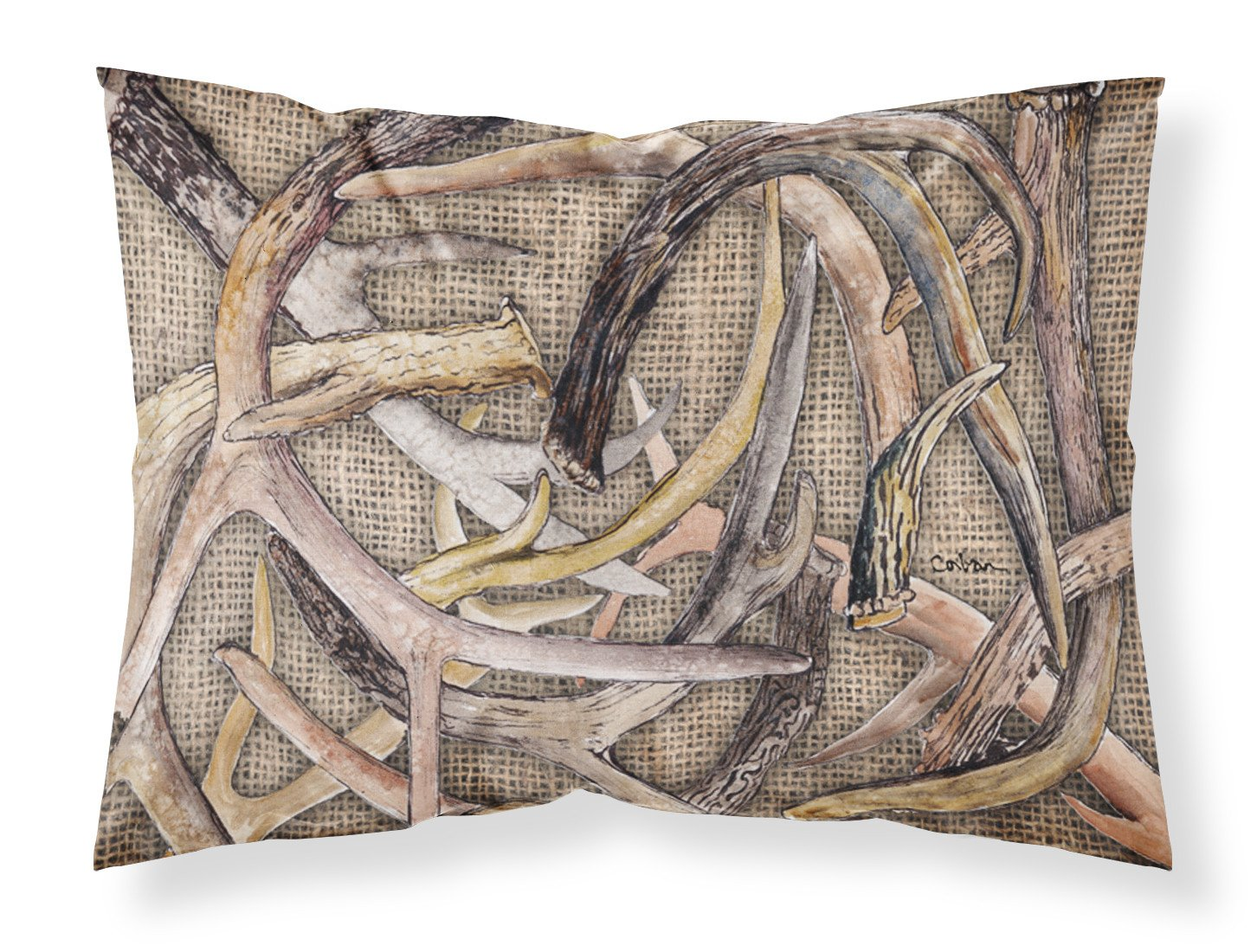 Buy this Deer Horns  Moisture wicking Fabric standard pillowcase