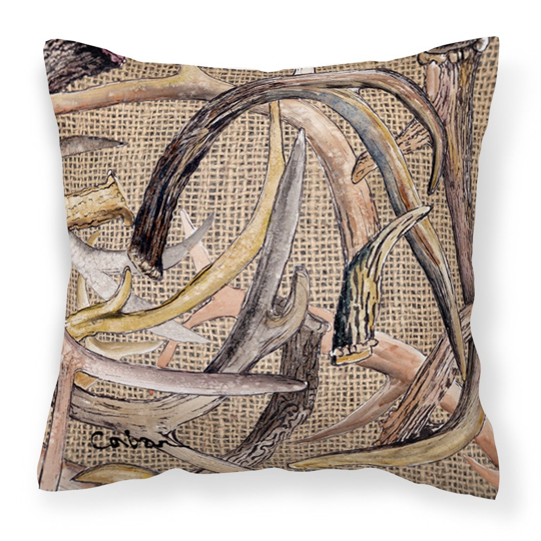 Buy this Deer Horns Fabric Decorative Pillow 8732PW1414