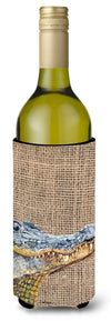 Buy this Alligator  on Faux Burlap Wine Bottle Beverage Insulator Beverage Insulator Hugger