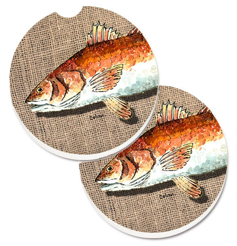 Buy this Red Fish Set of 2 Cup Holder Car Coasters 8736CARC