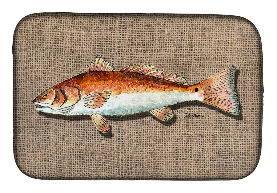 Buy this Red Fish Dish Drying Mat 8736DDM