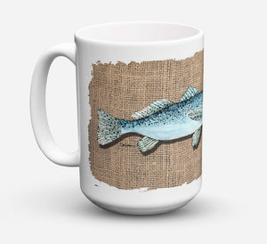 Buy this Fish Speckled Trout Dishwasher Safe Microwavable Ceramic Coffee Mug 15 ounce 8737CM15
