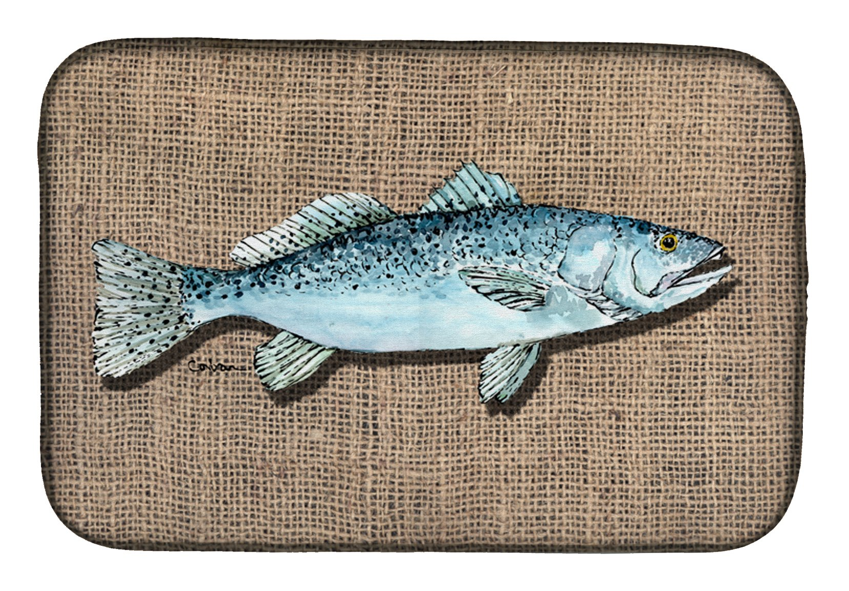Buy this Fish Speckled Trout Dish Drying Mat 8737DDM