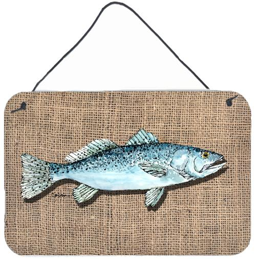 Buy this Fish Speckled Trout Indoor Aluminium Metal Wall or Door Hanging Prints