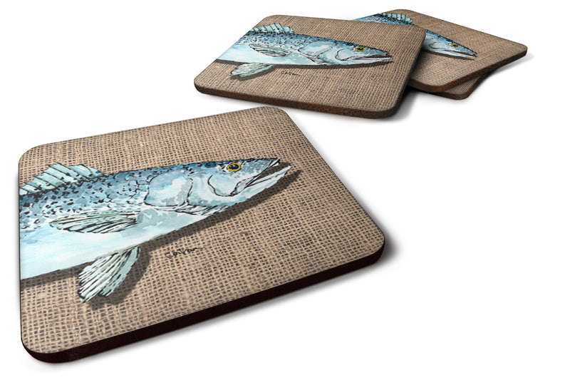 Buy this Set of 4 Fish Speckled Trout Foam Coasters