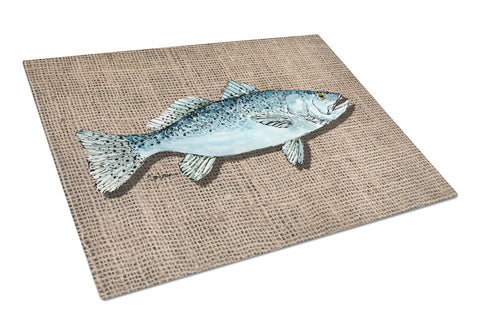 Buy this Fish Speckled Trout Glass Cutting Board Large