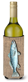 Buy this Fish Speckled Trout  on Faux Burlap Wine Bottle Beverage Insulator Beverage Insulator Hugger