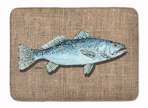 Buy this Fish Speckled Trout Machine Washable Memory Foam Mat 8737RUG