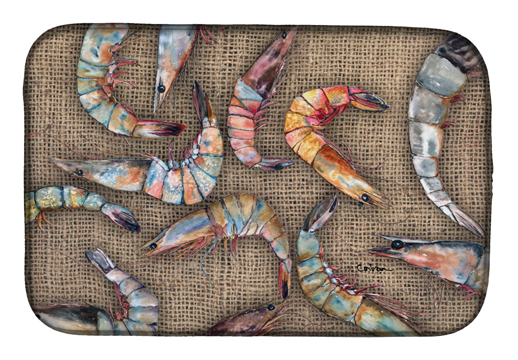 Shrimp Dish Drying Mat 8738DDM by Caroline's Treasures