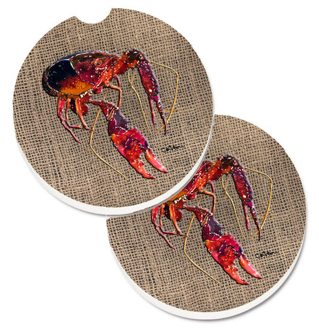Buy this Crawfish Set of 2 Cup Holder Car Coasters 8739CARC