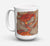 Buy this Cooked Crabs on Faux Burlap Dishwasher Safe Microwavable Ceramic Coffee Mug 15 ounce 8742CM15