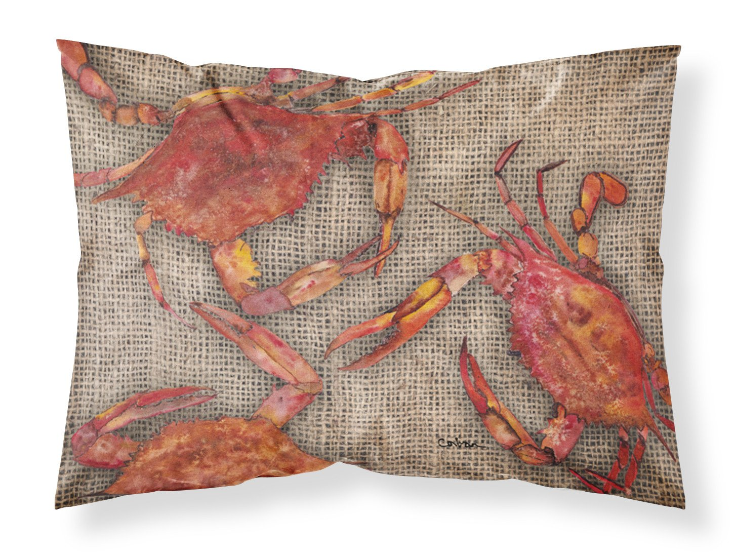 Buy this Cooked Crabs on Faux Burlap Moisture wicking Fabric standard pillowcase