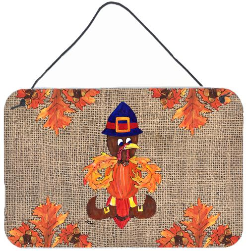 Thanksgiving Turkey Pilgrim Fleur de lis  Indoor Wall or Door Hanging Prints by Caroline's Treasures