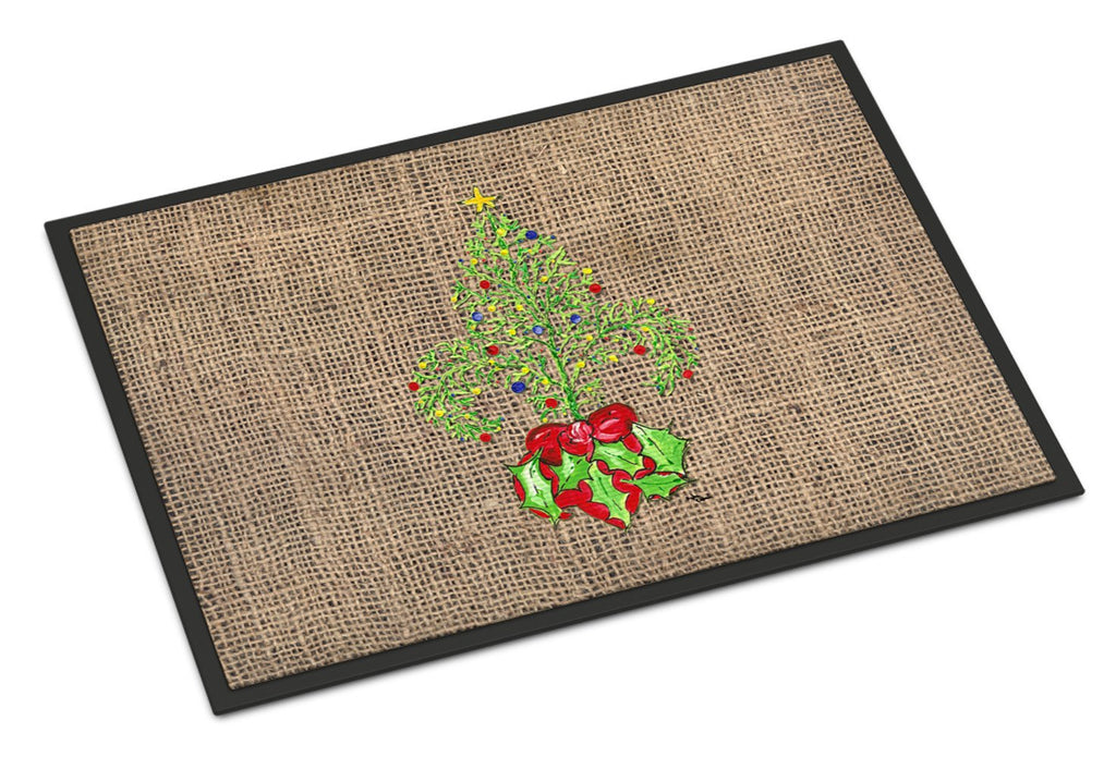 Buy this Christmas Tree Fleur de lis Indoor or Outdoor Mat 18x27 Doormat