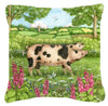 Pigs Meadowsweet by Debbie Cook Canvas Decorative Pillow CDCO0371PW1414 - the-store.com