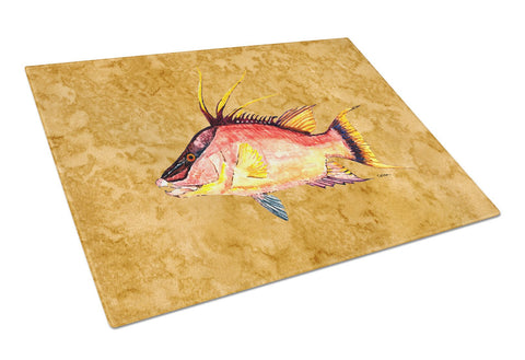 Buy this Hog Snapper on Gold Glass Cutting Board Large 8751LCB