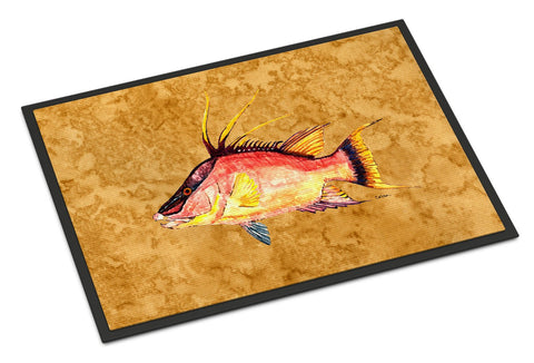Buy this Hog Snapper on Gold Indoor or Outdoor Mat 18x27 8751MAT