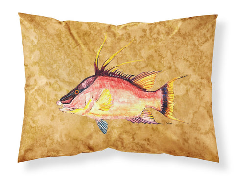 Buy this Hog Snapper on Gold Fabric Standard Pillowcase 8751PILLOWCASE