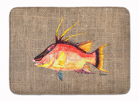 Buy this Hog Snapper on Faux Burlap Machine Washable Memory Foam Mat 8753RUG