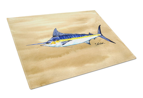 Buy this Swordfish on Sandy Beach Glass Cutting Board Large 8754LCB