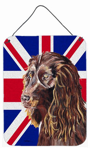 Buy this Boykin Spaniel with Engish Union Jack British Flag Wall or Door Hanging Prints SC9862DS1216