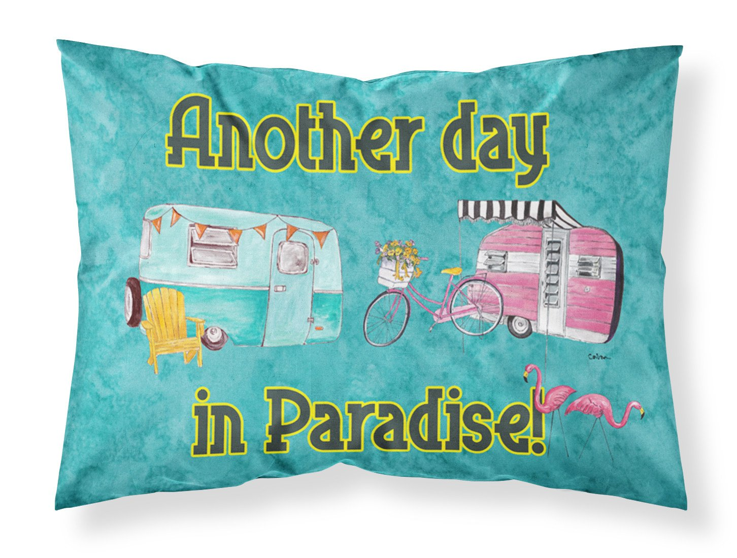Another Day in Paradise Moisture wicking Fabric standard pillowcase by Caroline's Treasures