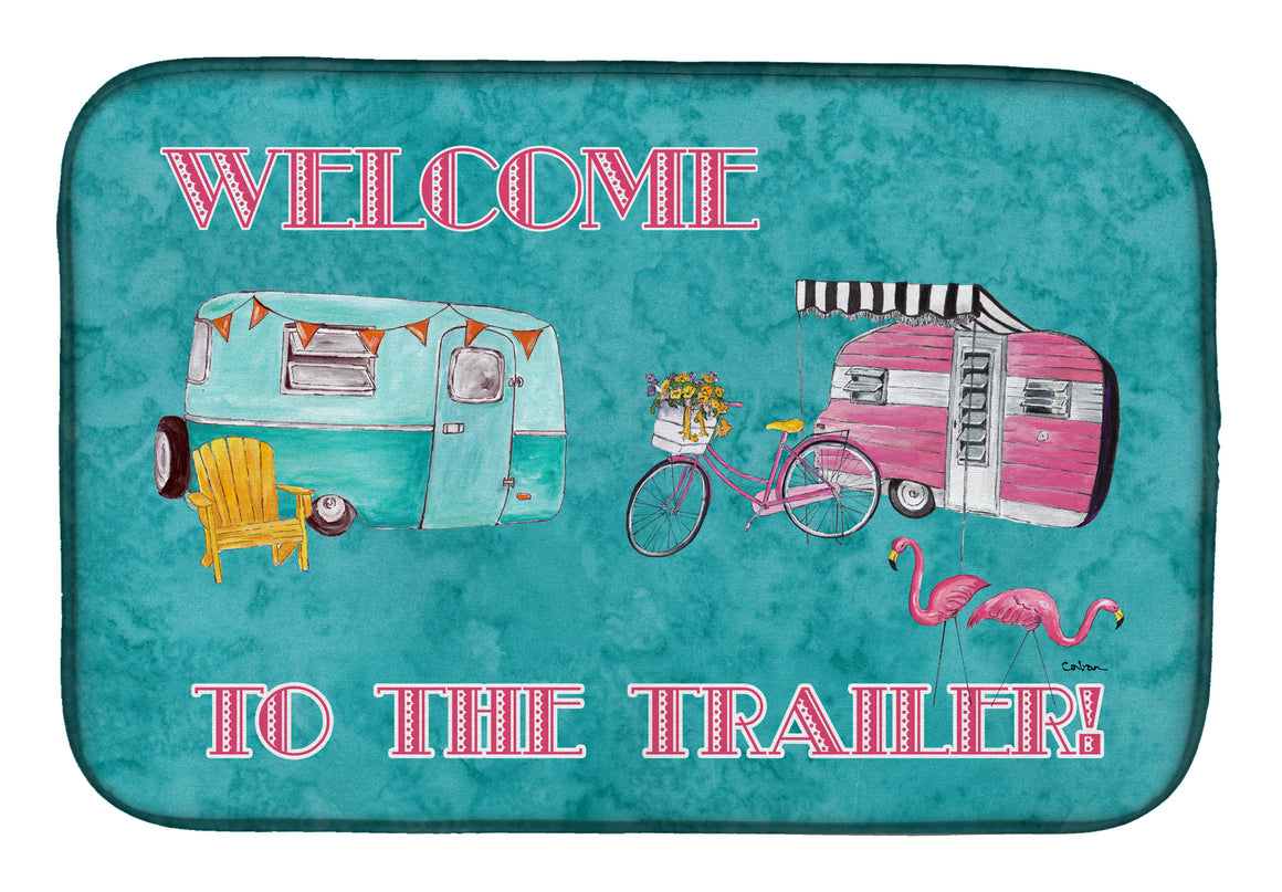 Buy this Welcome to the Trailer Dish Drying Mat 8760DDM