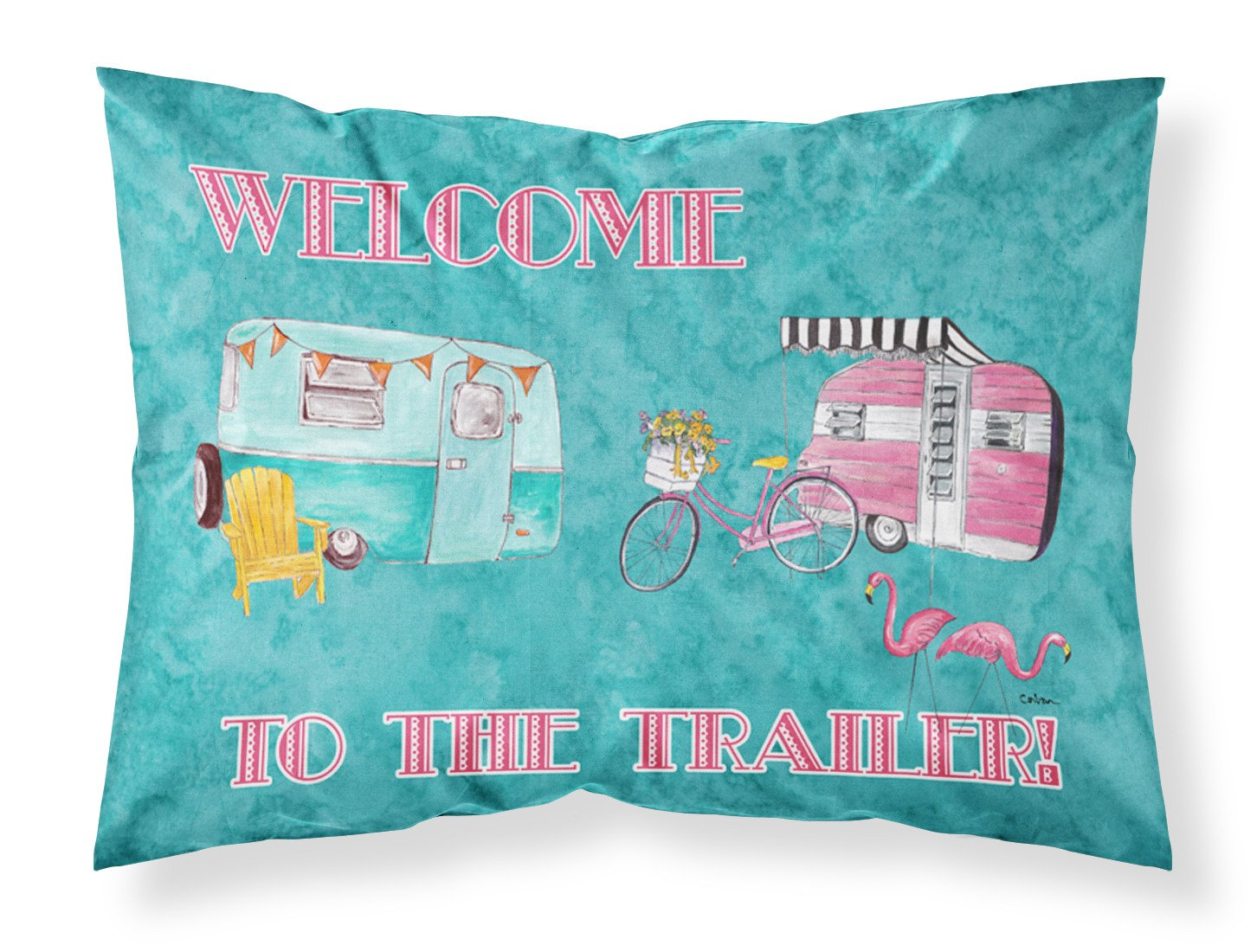 Welcome to the trailer Moisture wicking Fabric standard pillowcase by Caroline's Treasures
