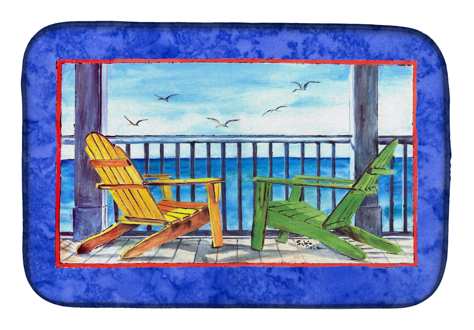 Buy this Adirondack Chairs Blue Dish Drying Mat 8767DDM