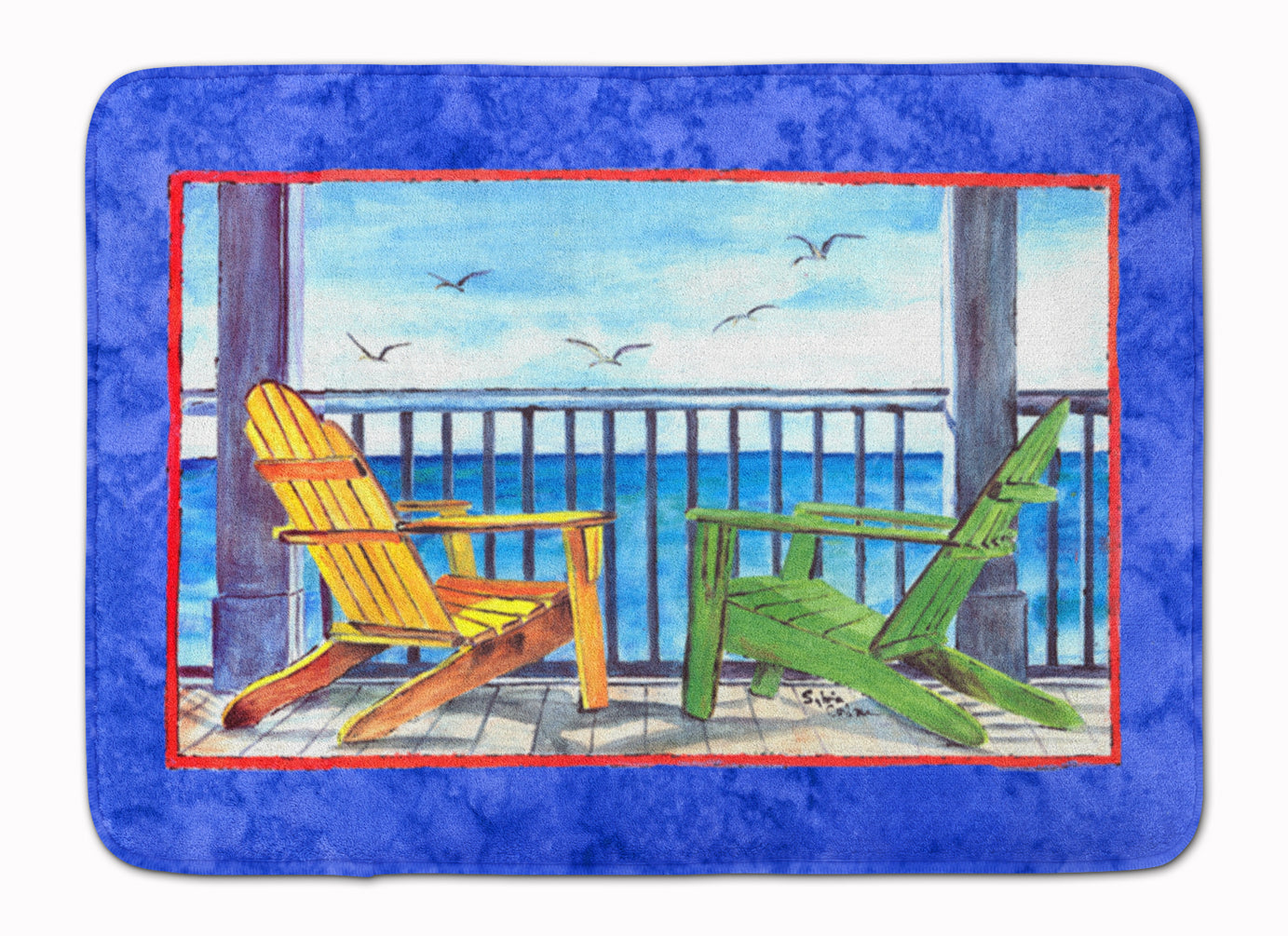 Buy this Adirondack Chairs Blue Machine Washable Memory Foam Mat 8767RUG