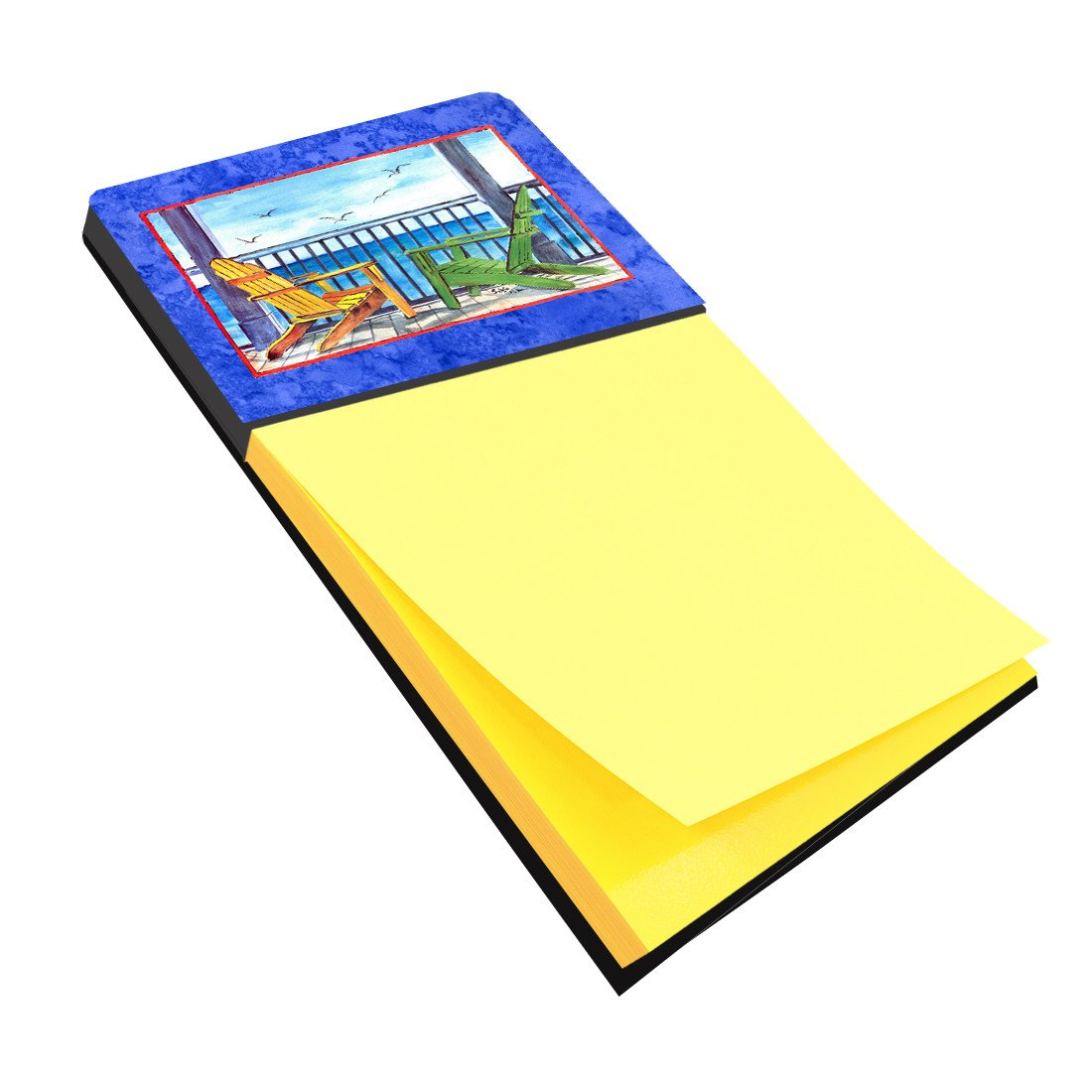 Buy this Adirondack Chairs Blue Refiillable Sticky Note Holder or Postit Note Dispenser 8767SN