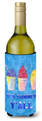 Buy this Snowballs and Snowcones Wine Bottle Beverage Insulator Beverage Insulator Hugger