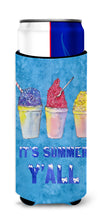 Snowballs and Snowcones Ultra Beverage Insulators for slim cans 8779MUK by Caroline's Treasures