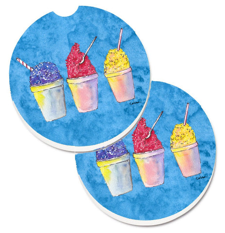 Buy this Snowballs and Snowcones Set of 2 Cup Holder Car Coasters 8780CARC