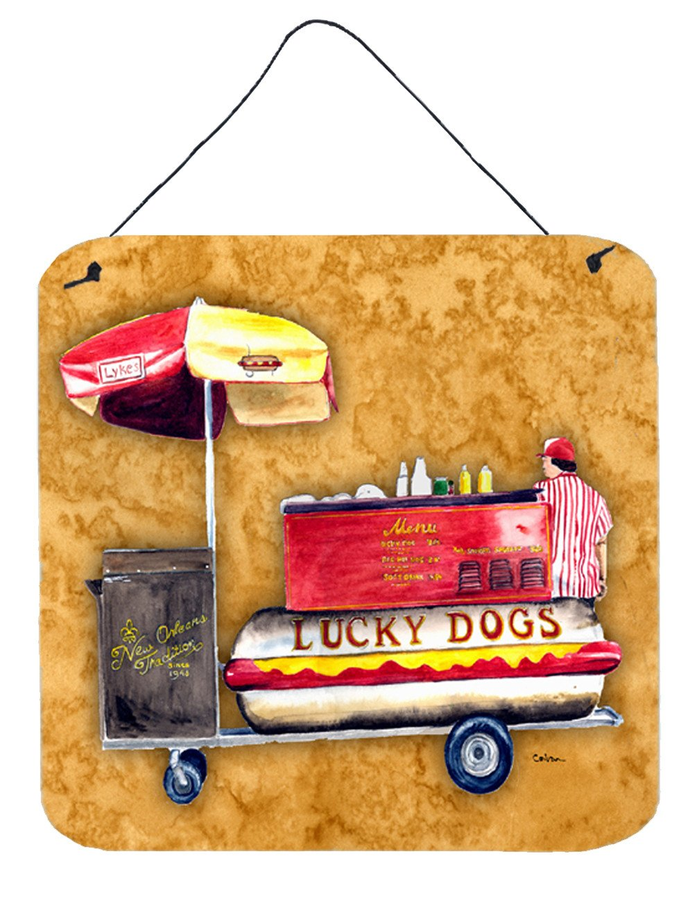 Lucky Dog Aluminium Metal Wall or Door Hanging Prints by Caroline's Treasures